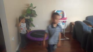 boy demonstrates comically how to use an exercise ball - Video