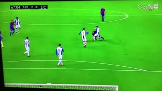 Andres Iniesta crazy skill vs Espanyol - Video