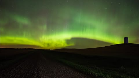 Northern Lights Shine Bright Over North Dakota