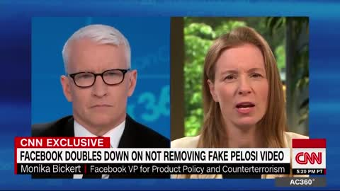 Anderson Cooper of CNN grills Facebook Exec over Pelosi video