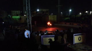 World Circus Strong Guy Breath Fire