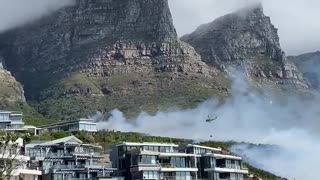 Fire on Camps Bay slopes