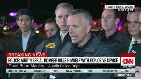 Austin Bombing Suspect Detonated Explosive as SWAT Officer Approached - Killed Himself