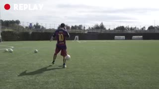 VIDEO: The 2 best 'freestylers' in the world VS Messi, Suarez, Pique, Arda and Ter Stegen - Video