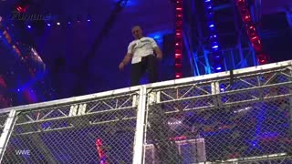 Wrestlemania 32: Shane McMahon Jumps Off Cage, Falls 20 Feet Into Table - Video