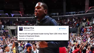Kevin Durant Booed At Staples Center During Team USA Game - Video