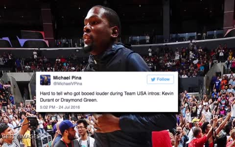 Kevin Durant Booed At Staples Center During Team USA Game