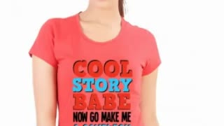 Funny Women T Shirts Purple Colour - Video