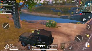 Running After Drop With Wealed Car Pubg game