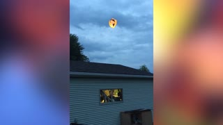 Floating Lantern Becomes Floating Fireball - Video