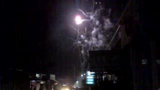 fireworks in the new year - Video