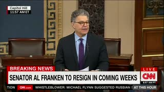 Al Franken Announces Resignation From Senate Amid Mounting Sexual Misconduct Claims - Video