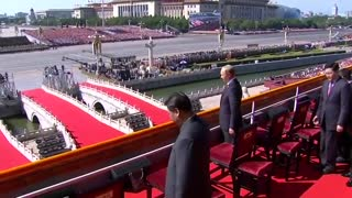 Massive display of force in China's military parade - Video