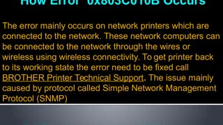 How to fix Brother Printer Error 0x803C010B | Brother Printer Help +44-800-046-5291 - Video