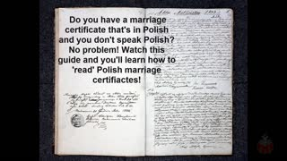How to get information from a Polish marriage certificate