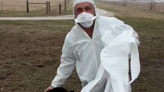 Here's how to put a hazmat suit on your pet