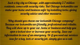 professional locksmith - Video