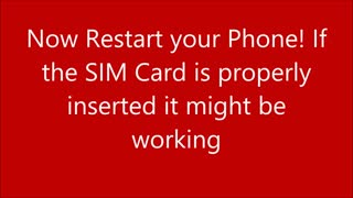 How to fix not working sim card in android phone - Video