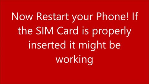 How to fix not working sim card in android phone
