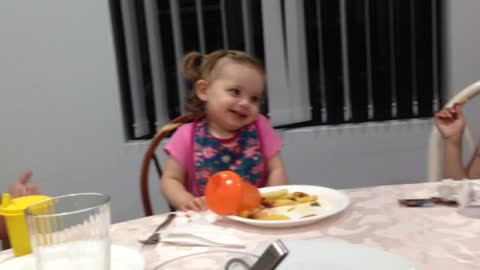 Toddler funny face expressions