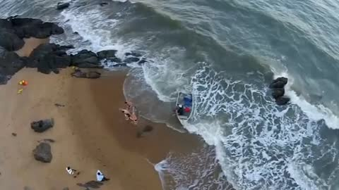 Beach Wedding Turns Into Tense Rescue