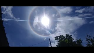 Is it a ring, halo, or rainbow around the sun?