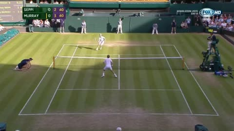 Murray vs Seppi - Round 3 - Wimbledon 2015