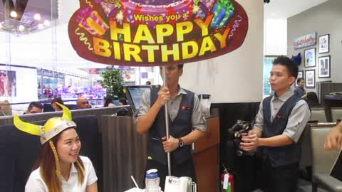 Funny and surprising birthday greetings from Vikings Bacolod