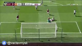 GOOOOAL Anthony Martial vs Burnley 0-1 - Video
