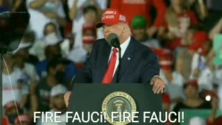 "FIRE FAUCI! Crowd Chants and President Trump Suggests ""After the Election."""