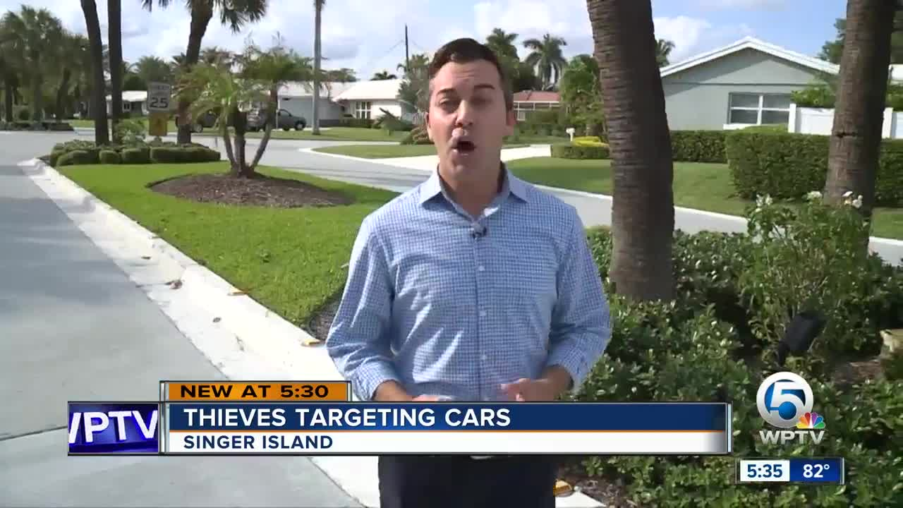 Thieves targeting cars in Singer Island neighborhood
