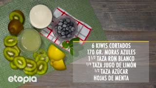 Mojito de Kiwi y Mora Azul - Video