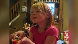 Little Girl Learns She Can't Lie To Santa - Video