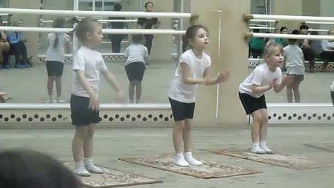 A demonstration lesson in the dance