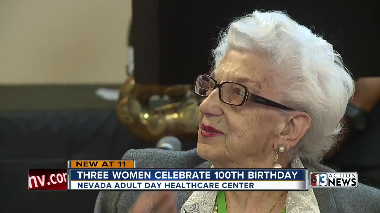 3 Nevada women celebrate their 100th birthdays together
