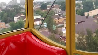 The Ferris wheel in the city Rybinsk, Russia  - Video