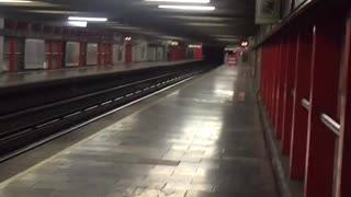 Earthquake Tremor in Train Station - Video
