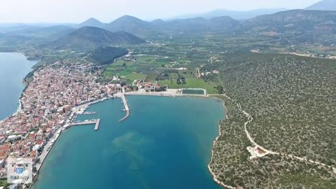 Spectacular drone footage of Hermione, Greece