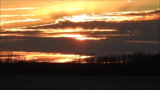 Awesome Prairie Sunset Sky - Video