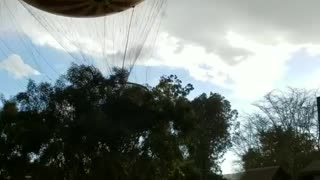 Helpless Hot Air Balloon Riders Whipped Around By Wind