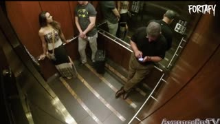 The Funniest with Kissing Prank in Elevator - Video