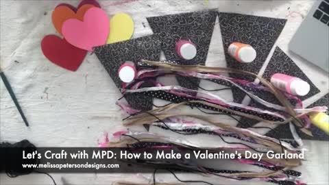 How to Make a Valentine's Day Garland