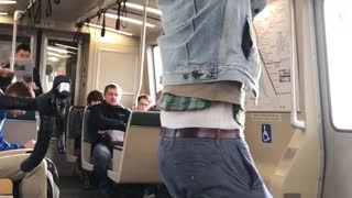Denim jacket man push ups train