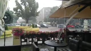 Rainfall in Prilep Republic of Macedonia - Video