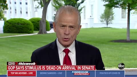 Peter Navarro says Pelosi lost him on stimulus for illegals