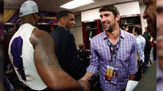 Baltimore Ravens Game Paused To See Michael Phelps Swim - Video