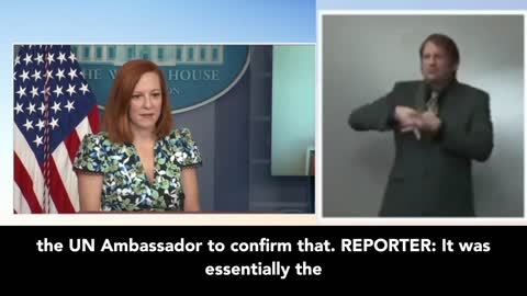 "Press Secretary Psaki: Biden Is ""Proud"" Of UN Amb. After She Called U.S. Founding Principles Racist"