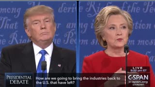 First Presidential Debate Highlights Between Trump and Clinton - Video