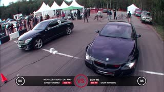 Mercedes-Benz CL63 AMG against BMW M6 [VIDEO] - Video