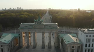 Brandenburg Gate taken from high view